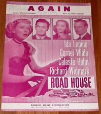 Sheet Music Again  Ida Lupino Cornel Wilde Widmwrk 1948 Road House Robbins Music