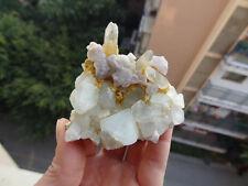 Rare Palest Topaz with Fluorite,Quartz on Matrix *China