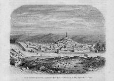 Stampa antica GHARDAIA Tagherdayt Mzab Algeria 1859 Old Print