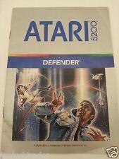 Atari 5200 Defender Game Instructions Manual Booklet Guide