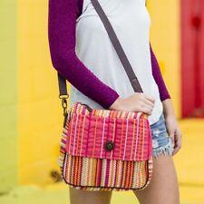 VHC Women's Boho Canvas Crossbody Purse Small Travel Handbag Adjustable Strap