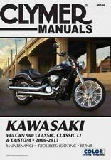 Clymer Kawasaki Vulcan 900 Classic, Classic LT and Custom 2006-2013 Manual, P...