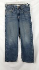 Levis womens jeans 569 size 14 blue loose straight leg medium wash denim