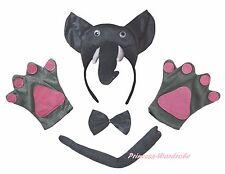 Halloween Party Gray Grey 3D Elephant Adult Headband Paw Tail Bow Animal Costume