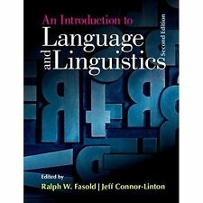 An Introduction to Language and Linguistics by Cambridge University Press...