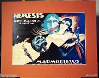 alter Reklame Druck hinter Passepartouts 80er Nemesis Marmorhaus 50x40 cm 838