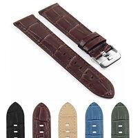 DASSARI 20mm Quick Release Crocodile Embossed Leather Strap for Gear S2 Classic