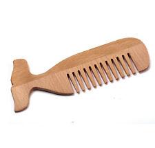 Balena in legno-pettine con denti larghi LEGNO SPIAGGIA PETTINE