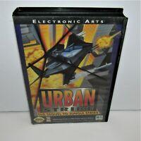 Urban Strike (Sega Genesis, 1994) No Manual Chipped Corner on Case Tested Works