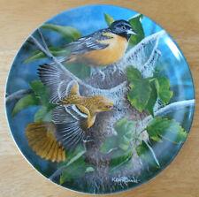 Knowles plate Baltimore Oriole 1985 Britannica Birds of Your Garden #3 Coa