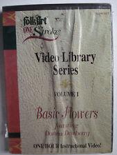 Basic Flowers featuring Donna Dewberry DVD Flower Arranging FolkArt One Stroke