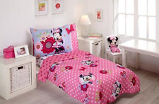 Disney Minnie Mouse Bow Power 4-Piece Toddler Bedding Set Pink