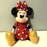 "Disney Ty Sparkle Minnie Mouse Soft Toy Plush Giggling Sounds 16"" Red Dress Bow"