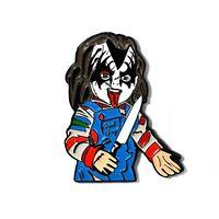 Chucky Doll Collectible Kiss Army Gene Simmons Enamel Hat Pin Lapel Pendant