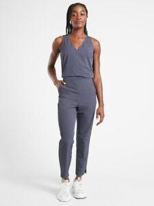 ATHLETA Brooklyn Textured Jumpsuit NWT - Size 10 Leopard Medieval Violet #981034
