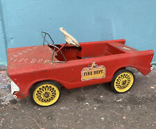 CYCLOPS FIRE DEPT. Vintage Australian Tin Toy Pedal Car