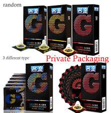 Lots 10Pcs Condoms Men Latex Condoms Sensitive G-spot Condoms Delay Big Particle