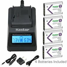 NP-BY1 EN-EL11 LI-60B Battery & Fast Charger for Sony Action Cam Mini HDR-AZ1