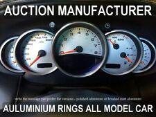 Porsche 911 996 Chrome Cluster Gauge Dashboard Rings Speedo Trim Instrument 5pcs