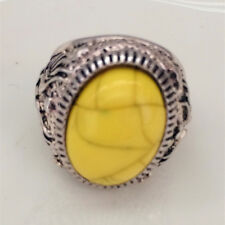 Vintage Jewelry 316l Stainless Steel Vogue Design Mini Stone Ring USA Size 10