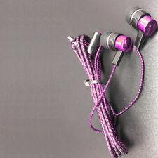 3.5mm In-Ear Sport Earphones Bass Headphone Stereo Headset Earbuds Cloth Rope