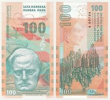 Finland 100 Mark Markkaa 2017 UNC SPECIMEN Test Note Banknote Sibelius Composer