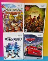 Epic Mickey 2 Cars Shrek Carnival Spiderwick - Nintendo Wii / Wii U Disney Games