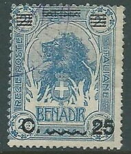 1906-07 SOMALIA USATO LEONE 25 CENT SU 2 1/2 A - U44-9
