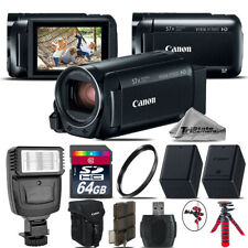 Canon VIXIA HF R 800 57x Zoom 3.28MP HD Camcorder + Flash + EXT BATT - 64GB Kit