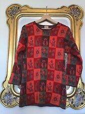 OILILY Patchwork Embroidered Style WOOL Mix JUMPER Size XS.   VGC