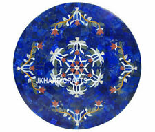"24"" Marble coffee Center Table Top Lapis Lazuli Antique Inlay Furniture Decor"