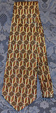 COURT HOUSE SQUARE Maroon/Black/Brown Geometric MEN'S NECK TIE  !FREE SHIPPING!