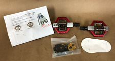 Crankbrothers Candy 3 Dual Sided Clipless Pedals, Red, 310 Grams, W/ Cleats