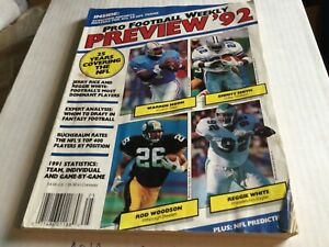 1992 Preview Pro Football Weekly annual magazine