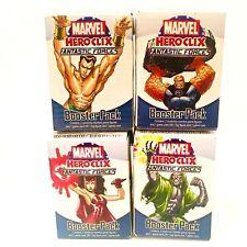 MARVEL HeroClix  Fantastic Forces Booster Packs Set Lot of 4 WizKids NIB