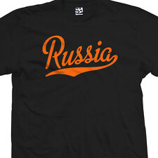 Russia Script & Tail Shirt - Russian City Souvenir Gift Tee - All Sizes & Colors