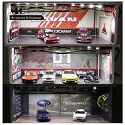MC Hobby 1:64 Diorama Led Light Carport Garage Cabinet D1GRAND PRIX/ADVAN/Subaru
