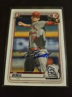 2020 Bowman Draft Ian Bedell St Louis Cardinals Signed Auto Rookie Card RC MLB