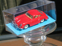 DINKY 1956 PORSCHE 356A COUPE RED WITH CLEAR MODEL DISPLAY BOX
