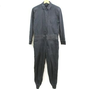 James Perse Womens Long Sleeve Button Up Collared Jumpsuit Size 1