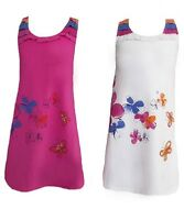 """GIRLS NEW PINK & CREAM """"BUTTERFLY ISLAND"""" FLORAL PRINT DRESS.SIZE:2-4YEARS"""