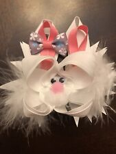 New Easter Bunny Hair Bow 5 Inch New