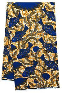 African Wax Fish Print Multicolor Beautiful New Design Crafting Sewing Per Yard