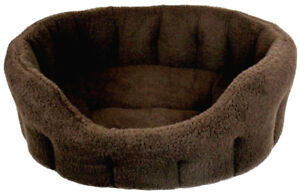 Fleece Material Softee Dog Beds Dark Brown From Pets & Leisure