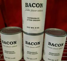 QTY 4 BACON Canned Fully Cooked 9 oz Smoke Flavor -Tactical Camping Food Storage
