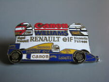 Nigel Mansell Riccardo Patress Canon William Formula 1 Open Wheel Racing Hat Pin