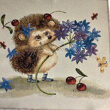 Baumwoll-Flachs Mischung Canvas Igel dunkelblau by Sevenberry 0,5m