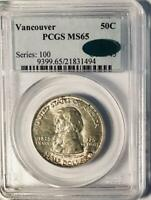1925 Vancouver Commemorative Silver Half Dollar- PCGS MS 65 - Mint State 65 CAC