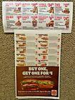 Burger King 1 Sheet Fast Food Restaurant Coupons  exp 11/28 + Bonus KFC Coupons