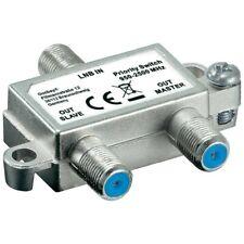 SAT Satelliten Signal Schalter Priority Switch verteiler  1 LNB auf 2 Anschlüsse